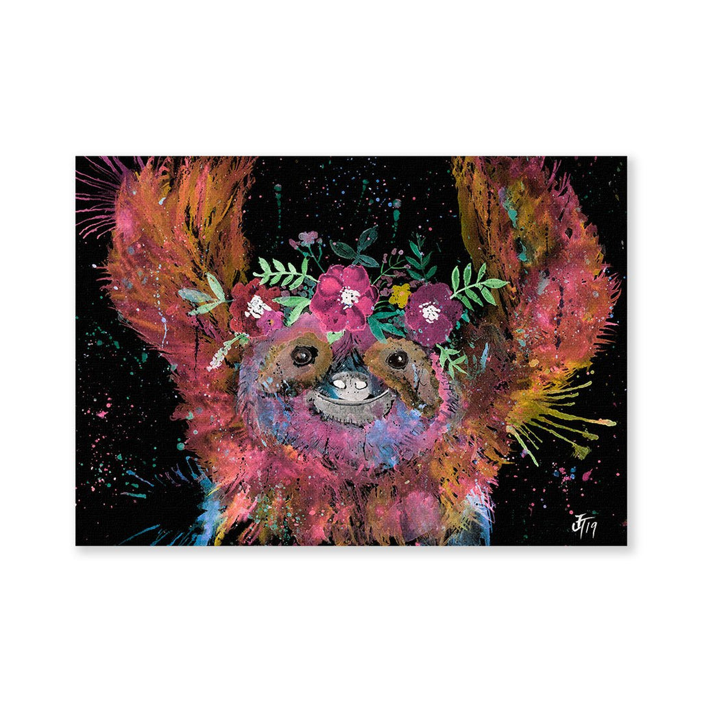 Hey Mrs Sloth Enchanted Signed Fine Art Print