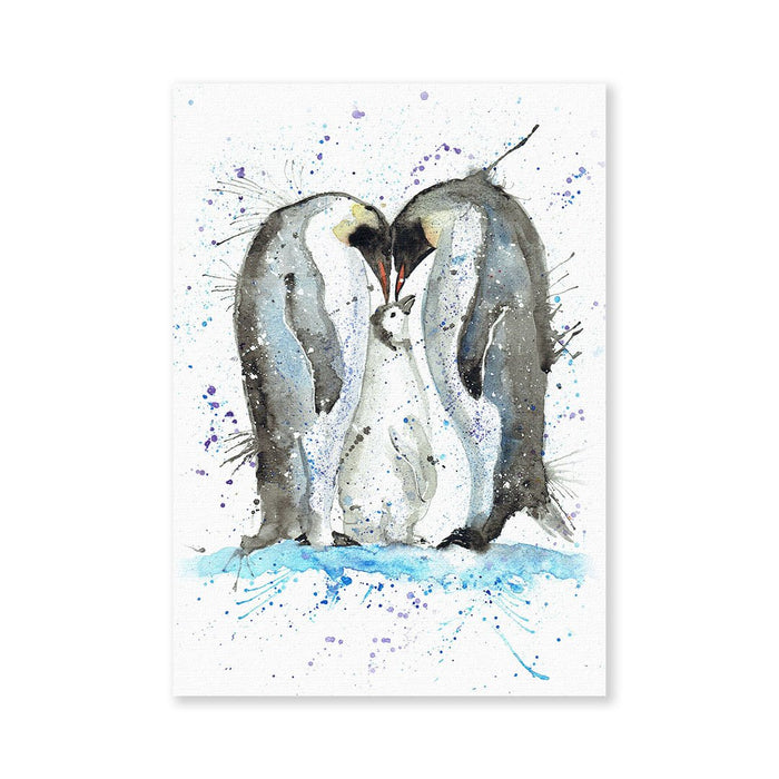 Family Penguins Signed Fine Art Print