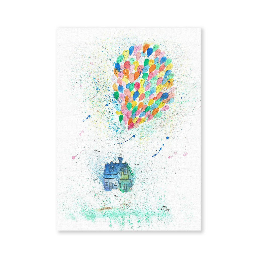 Balloon House Signed Fine Art Print