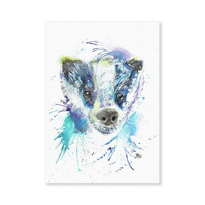 """Badge"" Badger Signed Fine Art Print"