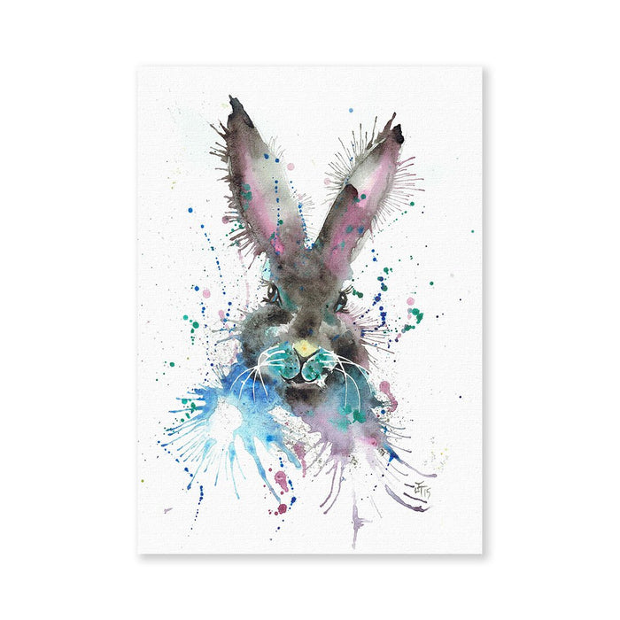 """Hi!"" Black Bunny Signed Fine Art Print"