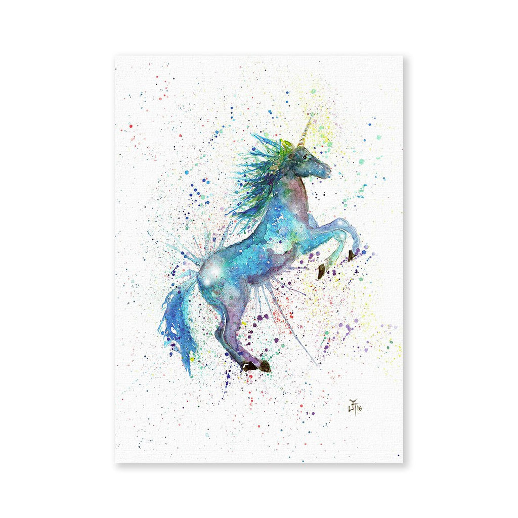 Blue Unicorn Signed Fine Art Print