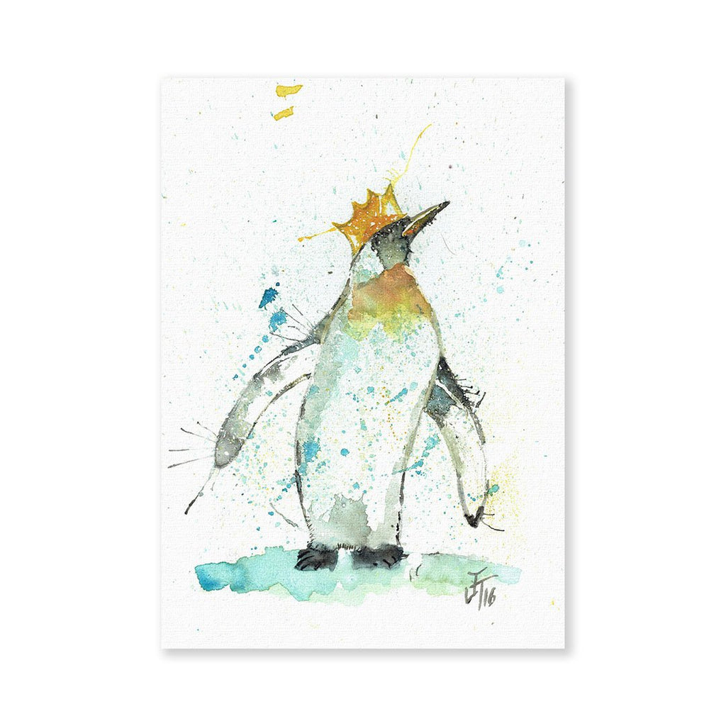 Party Penguin Signed Fine Art Print