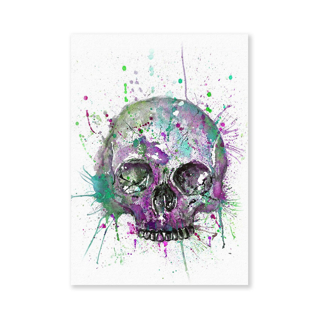 Purple Skull Signed Fine Art Print