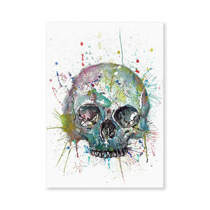 Blue Skull Signed Fine Art Print