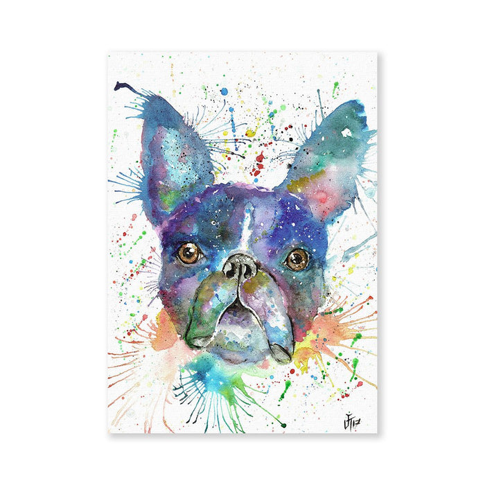 """Bruno"" Boston Terrier Signed Fine Art Print"
