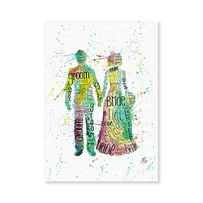 Bride & Groom Signed Fine Art Print