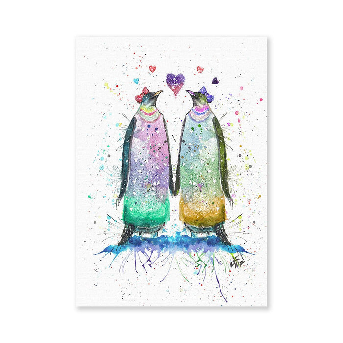 Lady Penguins Signed Fine Art Print