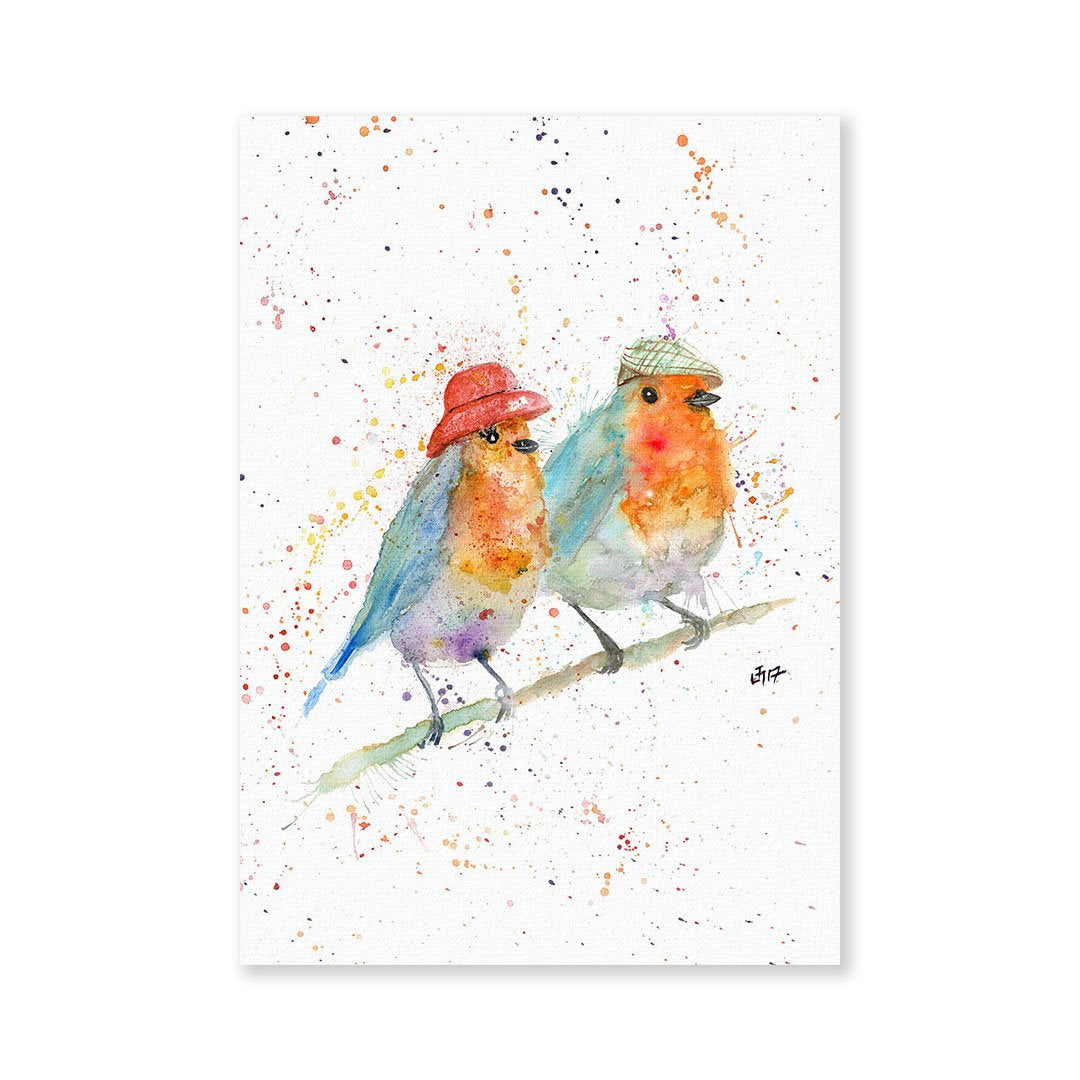 Mr & Mrs Robin Signed Fine Art Print