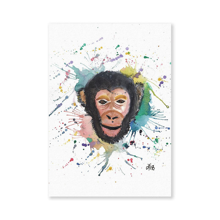 """Ciril"" Monkey Signed Fine Art Print"