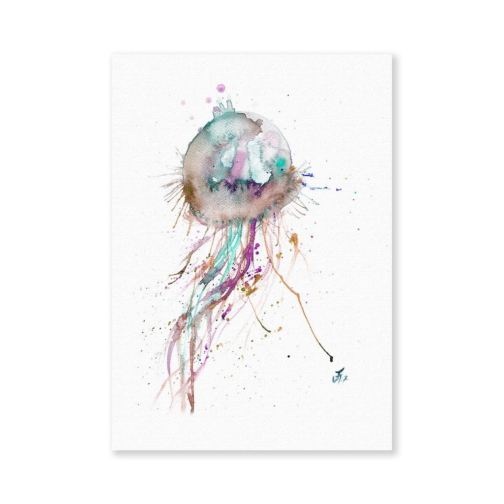 Jellyfish Signed Fine Art Print