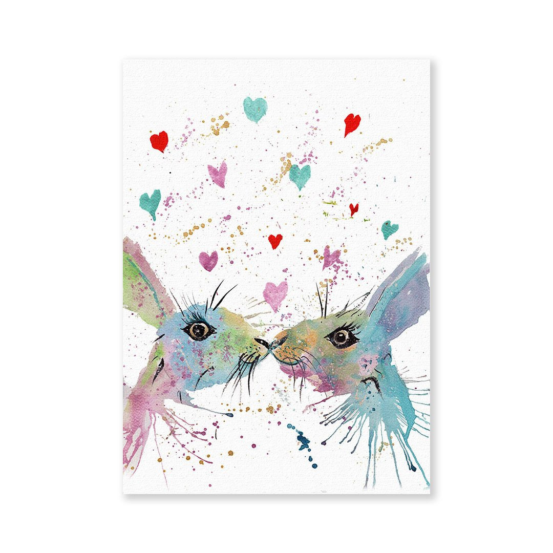 Bunnies in Love Signed Fine Art Print
