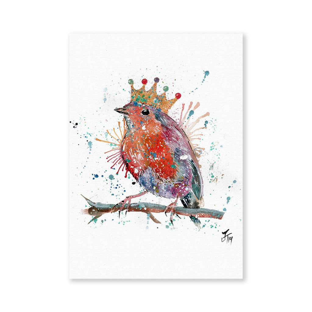 """Clancy"" Robin Signed Fine Art Print"