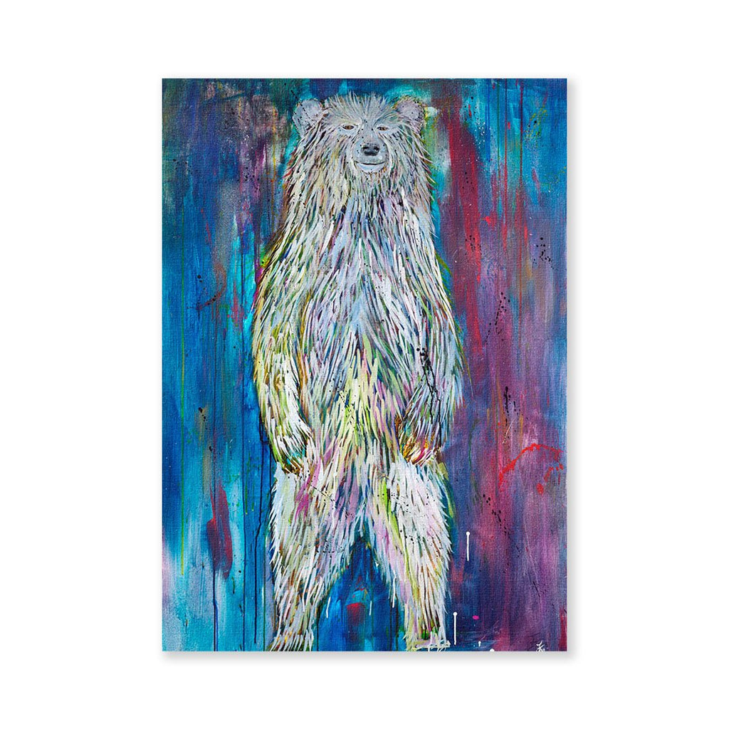 """Titus"" Bear Signed Fine Art Print"