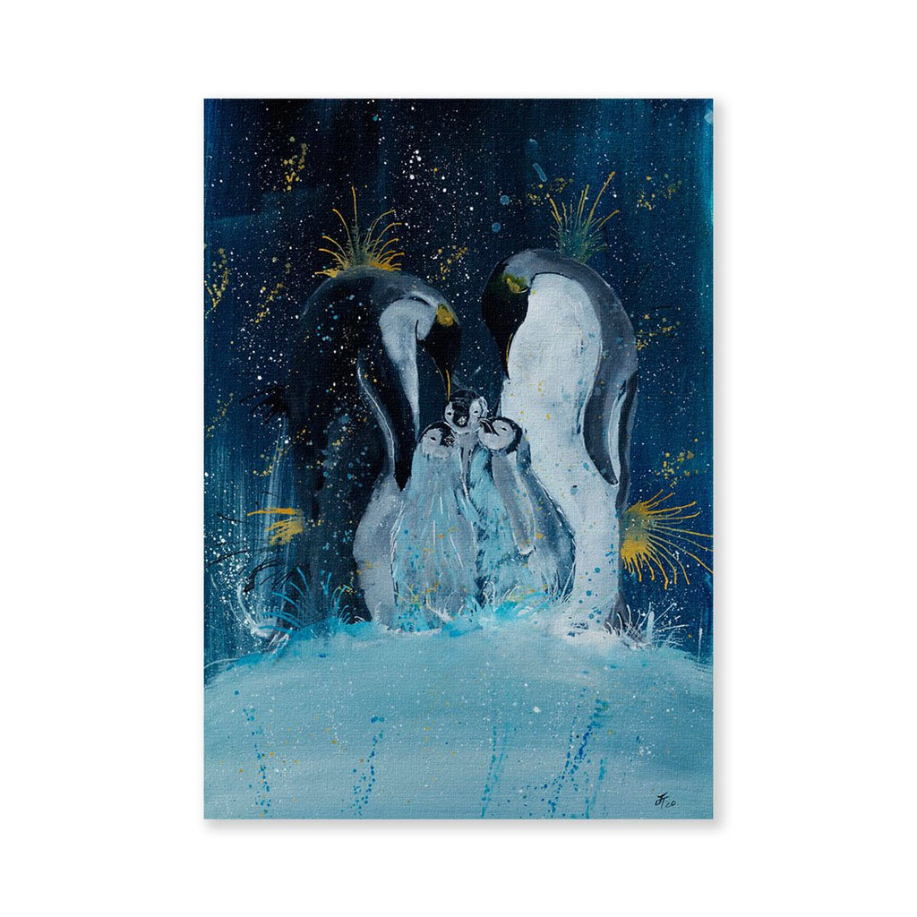 """Tranquil"" Penguins Signed Fine Art Print"