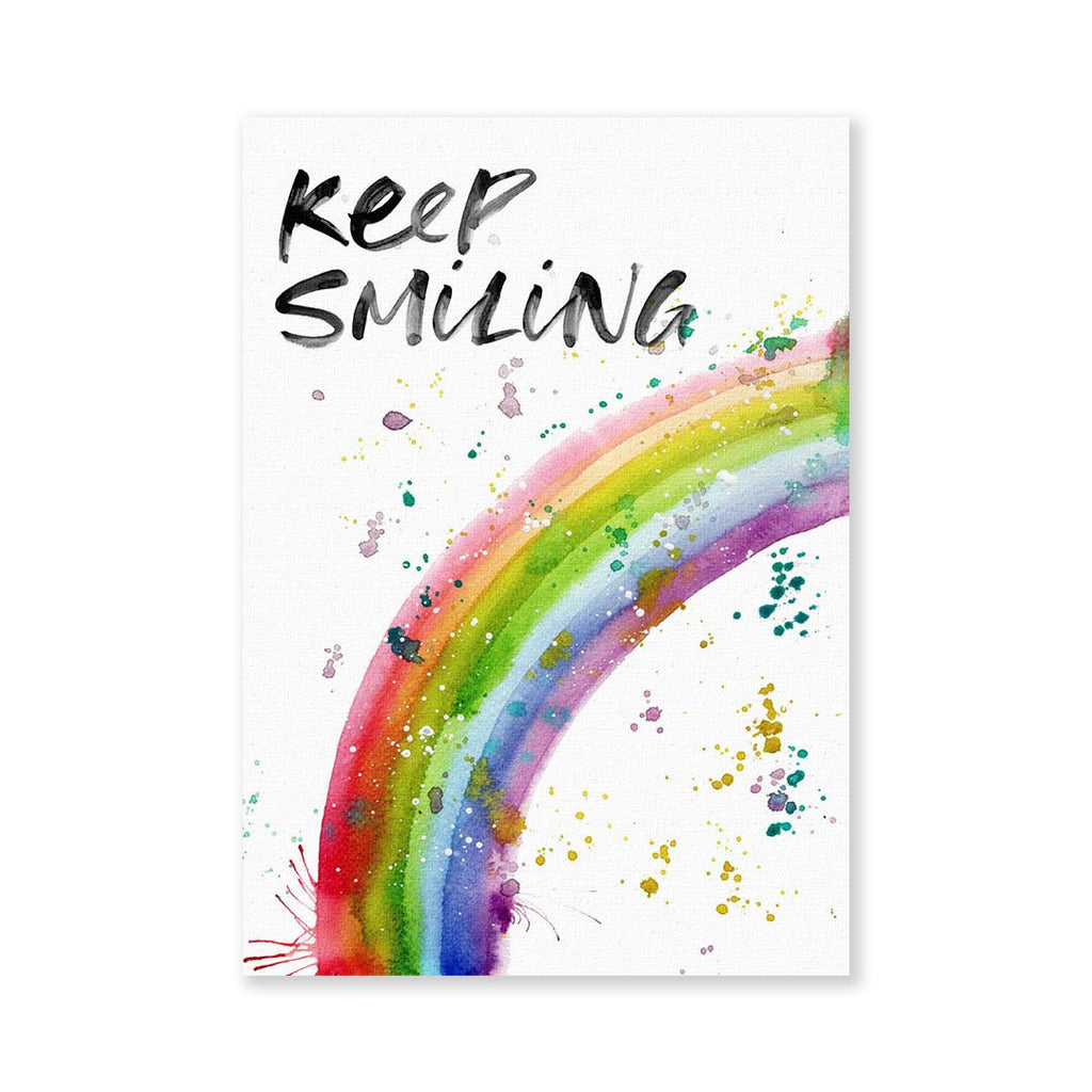 """Keep Smiling"" Rainbow Signed Fine Art Print"