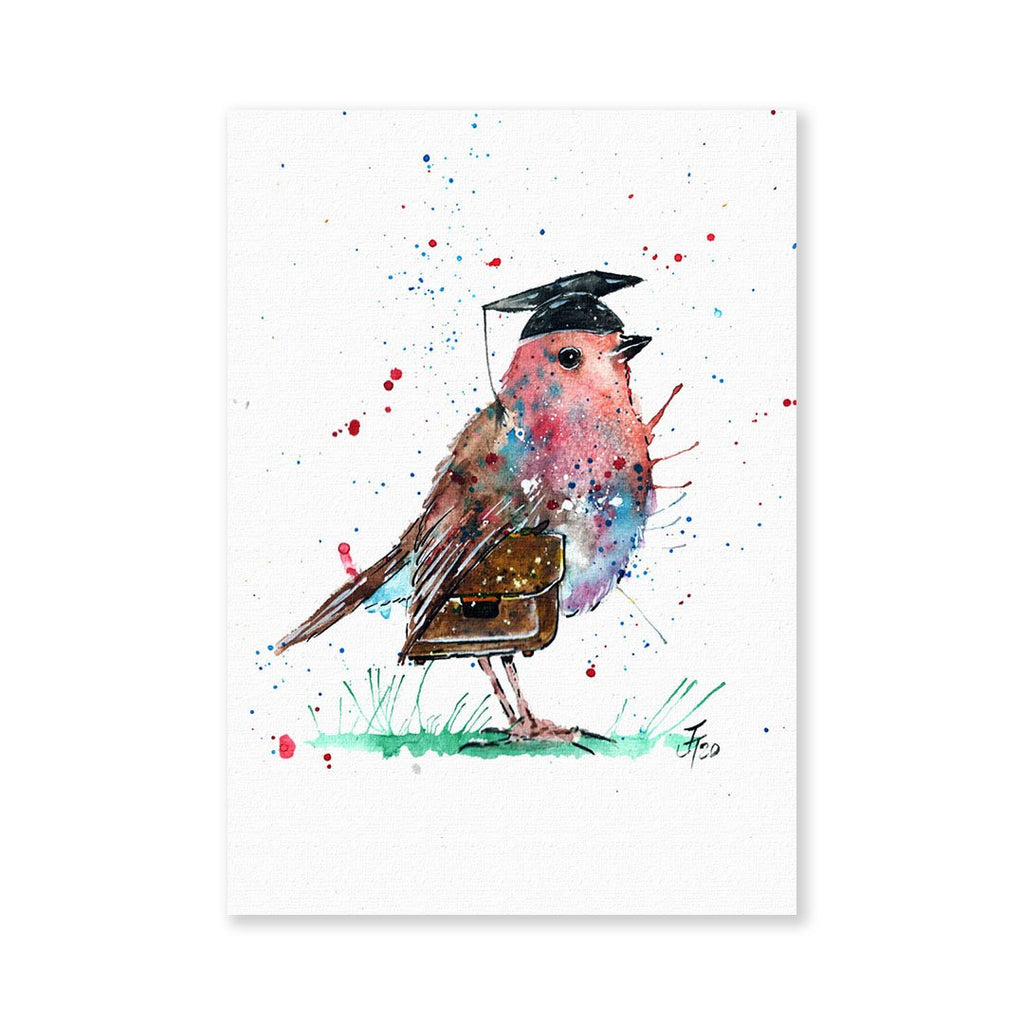 """Teach"" Robin Signed Fine Art Print"
