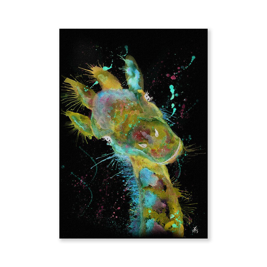 """Hattie"" Giraffe Enchanted Signed Fine Art Print"