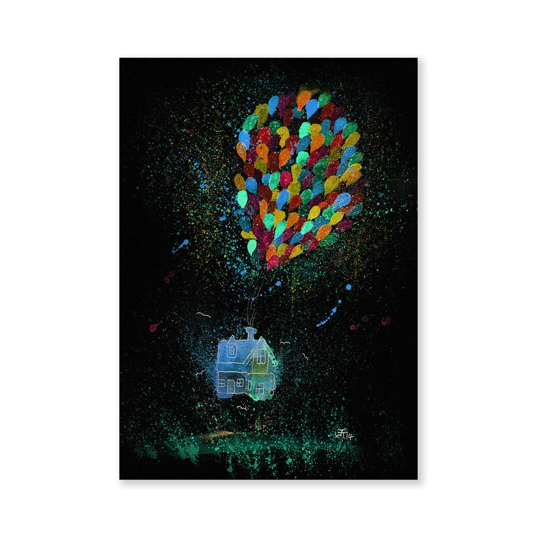 Balloon House Enchanted Signed Fine Art Print