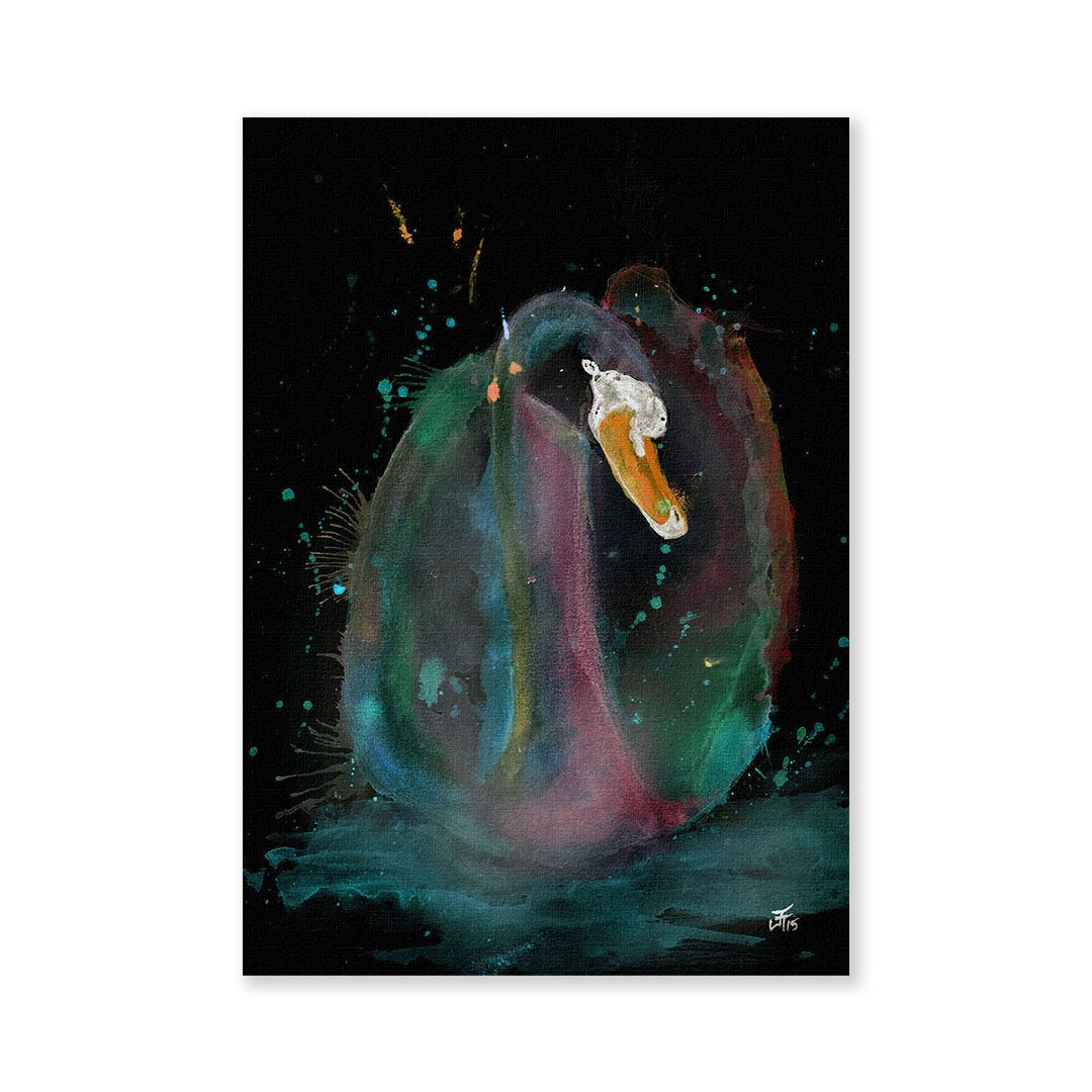 Swan Enchanted Signed Fine Art Print