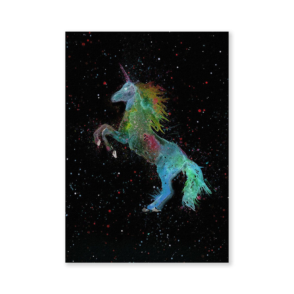 Rainbow Unicorn Enchanted Signed Fine Art Print