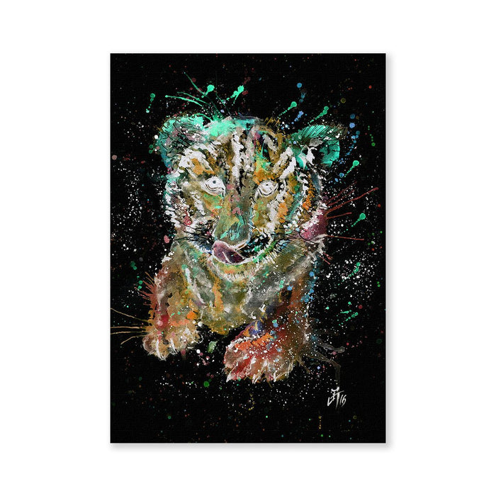 """Franklin"" Tiger Cub Enchanted Signed Fine Art Print"