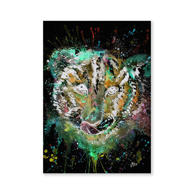 """Franklin"" Tiger Cub Face Enchanted Signed Fine Art Print"