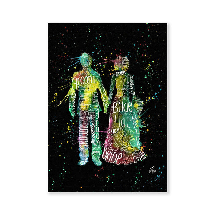 Bride & Groom Enchanted Signed Fine Art Print