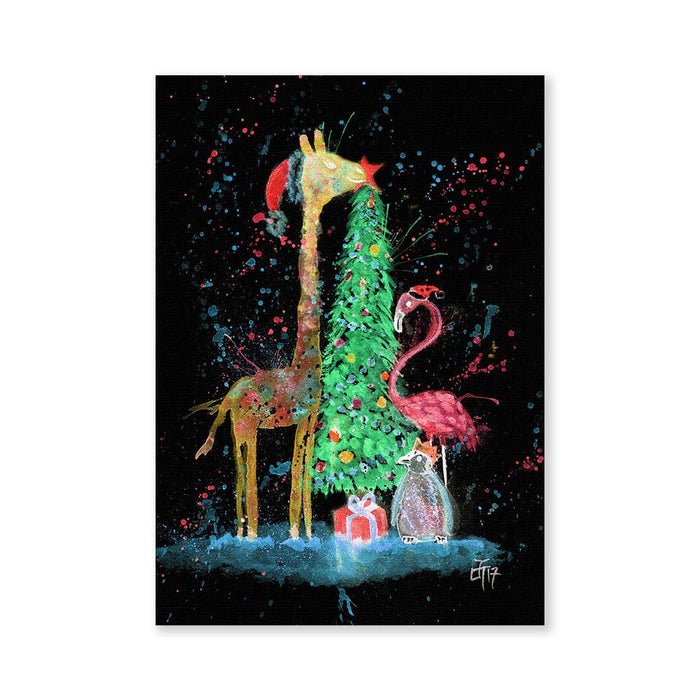 Christmas Pals Enchanted Signed Fine Art Print