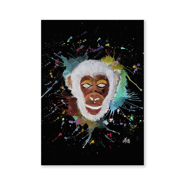 """Ciril"" Monkey Enchanted Signed Fine Art Print"