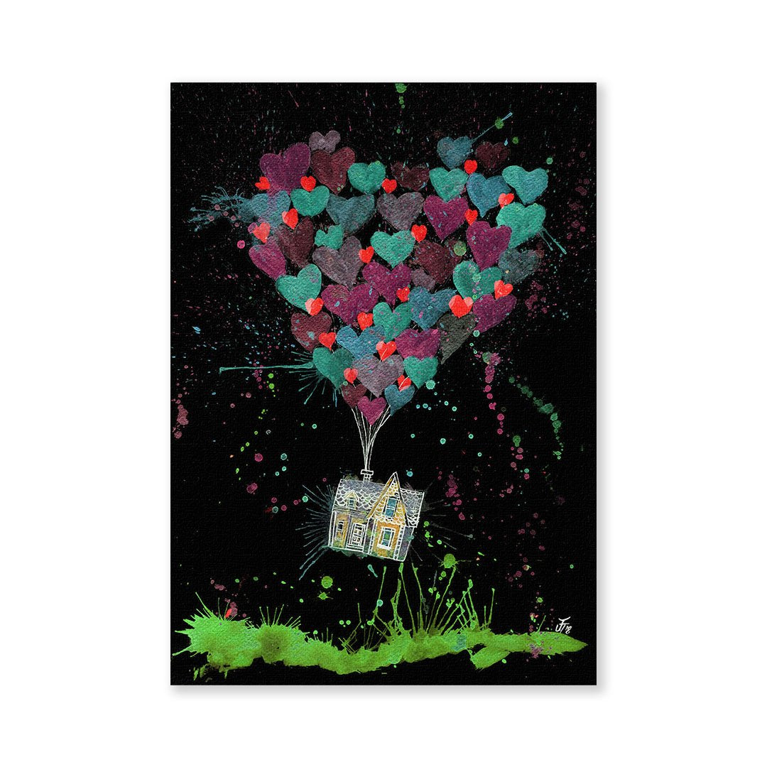 Valentines Up Enchanted Signed Fine Art Print