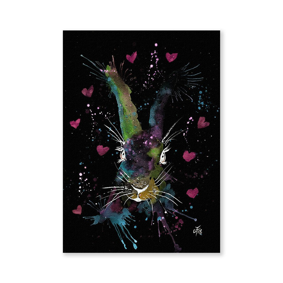 Valentines Bunny Enchanted Signed Fine Art Print