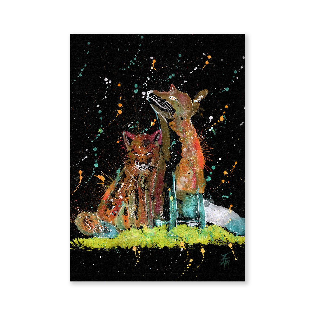 """Always Us"" Foxes Enchanted Signed Fine Art Print"