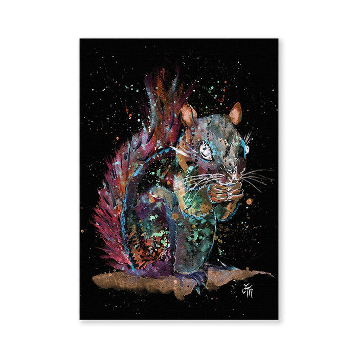 """Nige"" Squirrel Enchanted Signed Fine Art Print"