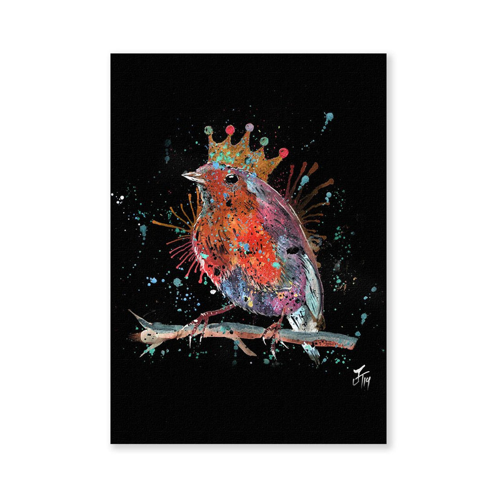 """Clancy"" Robin Enchanted Signed Fine Art Print"