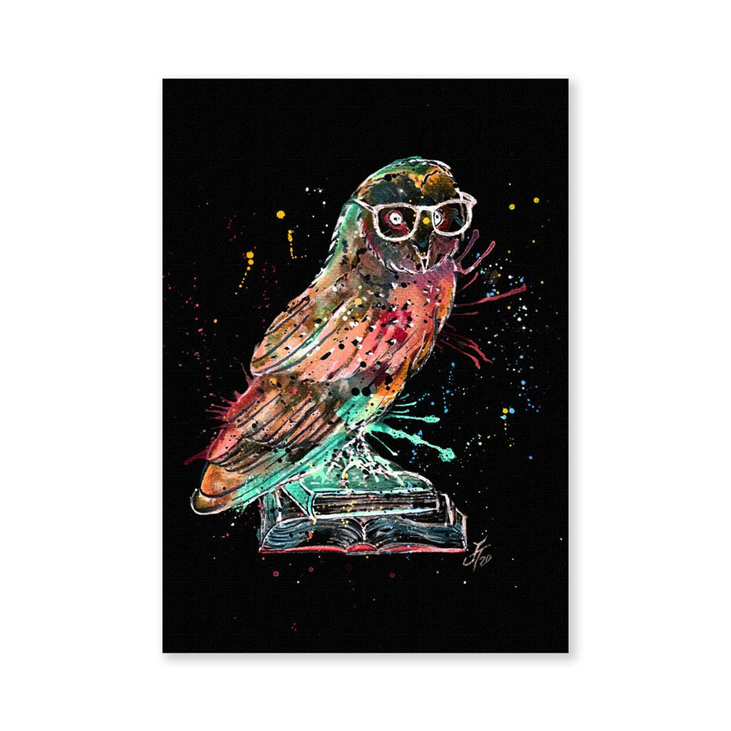 """Knowledge"" Owl Enchanted Signed Fine Art Print"