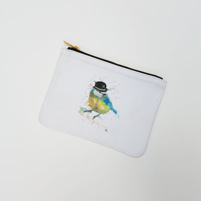 """Bluetit Bowler"" Large Coin Pouch"