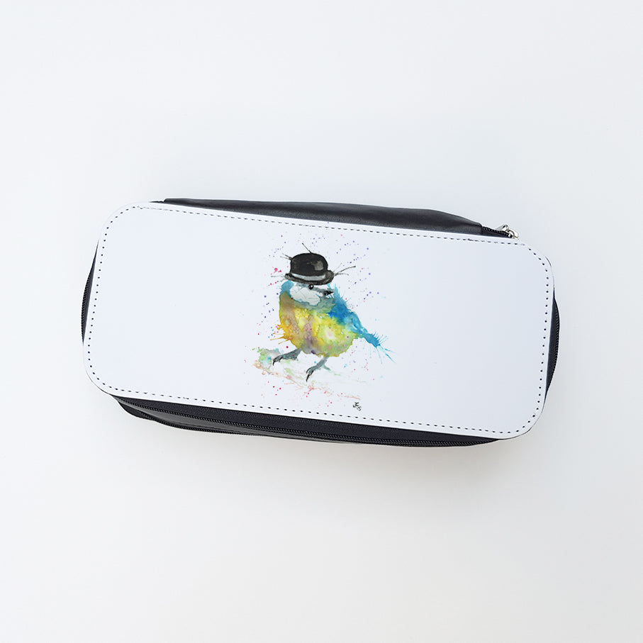 """Bluetit Bowler"" Ladies Makeup Bag"