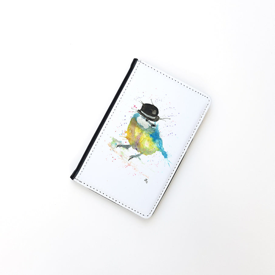"""Bluetit Bowler"" Passport Holder"