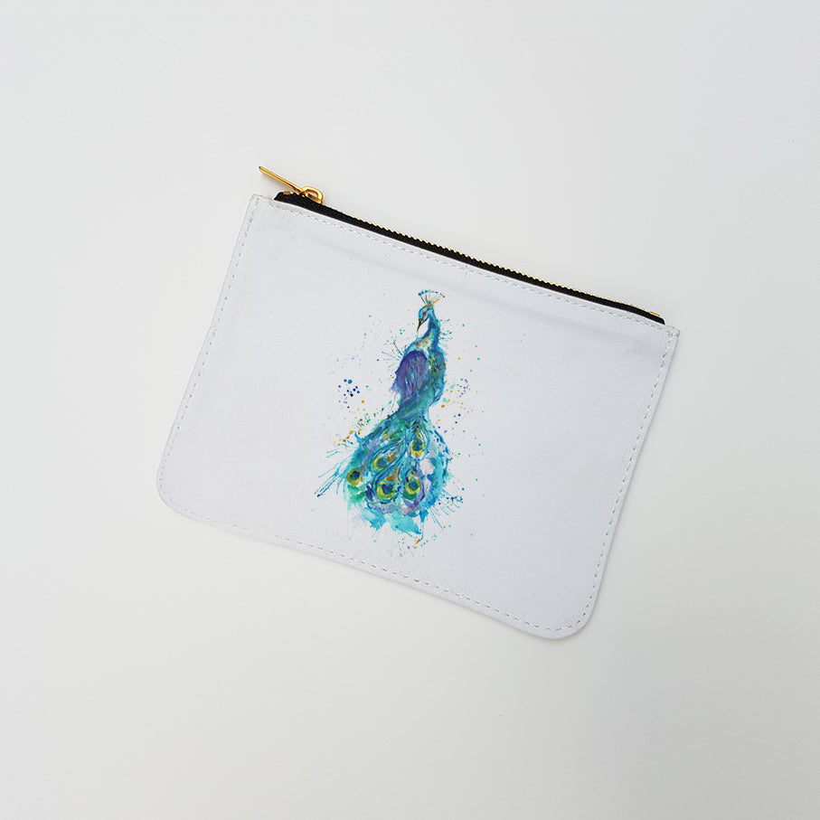 """Prince Peacock"" Large Coin Pouch"