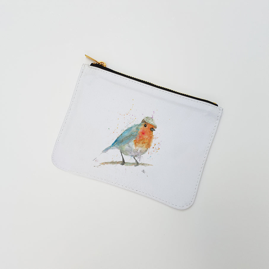 """Mr Robin"" Large Coin Pouch"