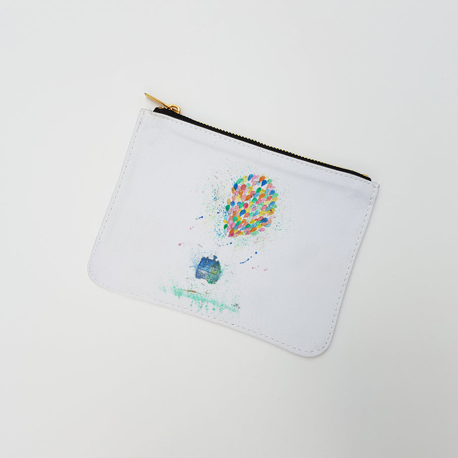 """Balloon House"" Large Coin Pouch"