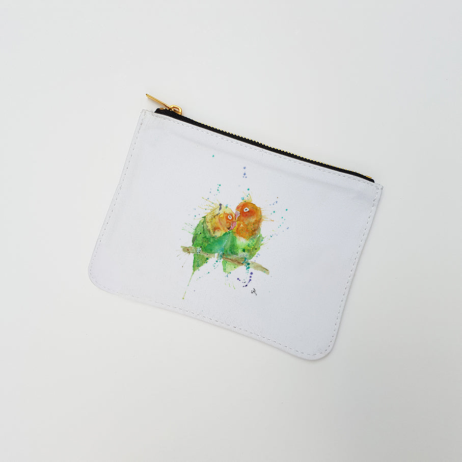 """Love Birds"" Large Coin Pouch"