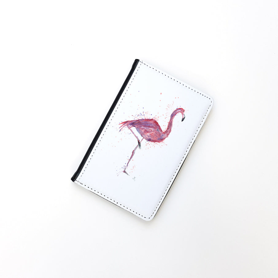 """Flo Flamingo"" Passport Holder"