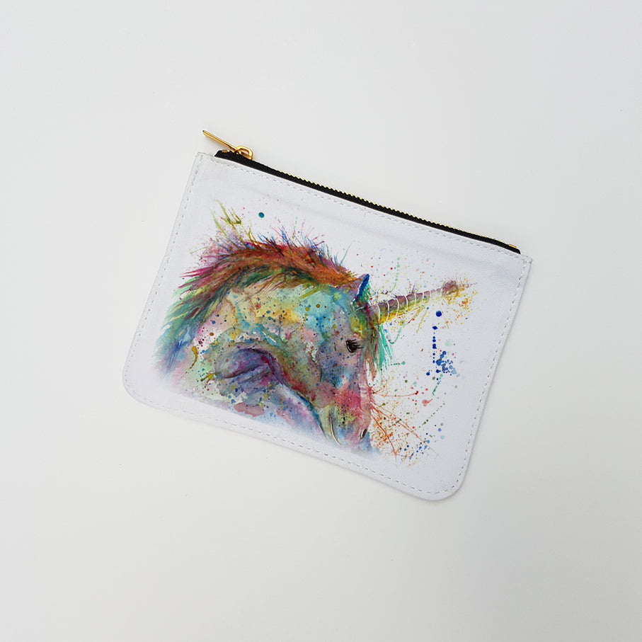 """Swirl Unicorn"" Large Coin Pouch"