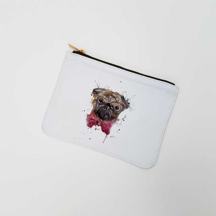 """Pug"" Large Coin Pouch"