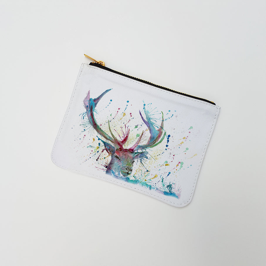 """Proud Stag"" Large Coin Pouch"