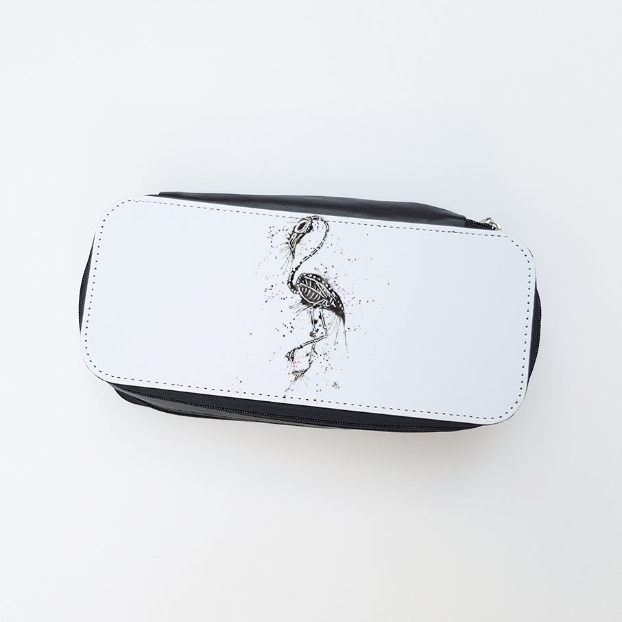 """Bones"" Ladies Makeup Bag"