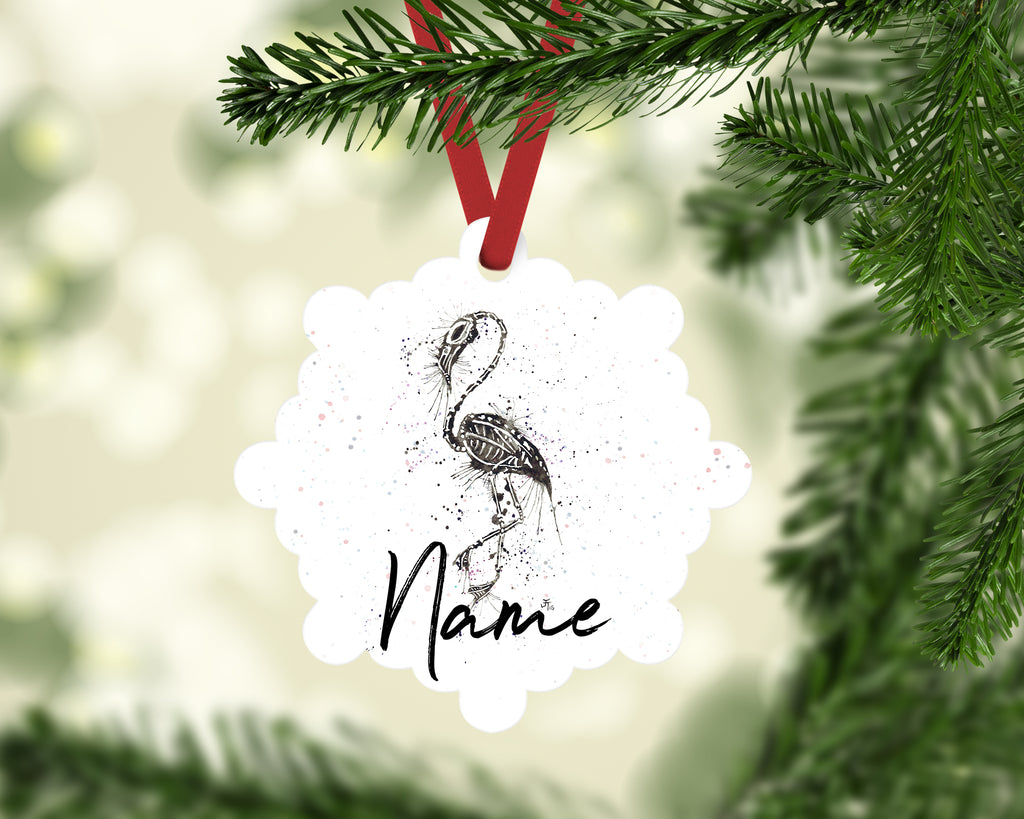 """Bones"" Personalised Aluminium Christmas Decoration"