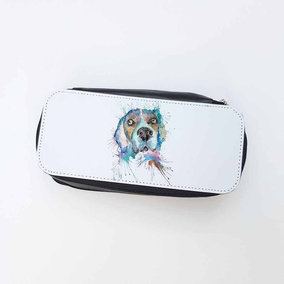 """Beagle"" Ladies Makeup Bag"